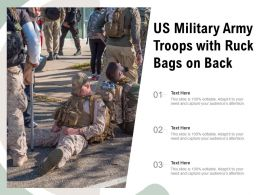 US Military Army Troops With Ruck Bags On Back