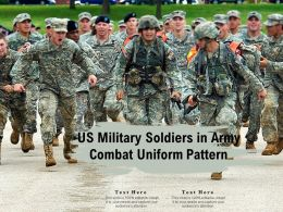 US Military Soldiers In Army Combat Uniform Pattern