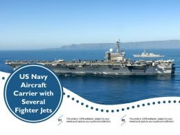 US Navy Aircraft Carrier With Several Fighter Jets