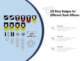 US Navy Badges For Different Rank Officers
