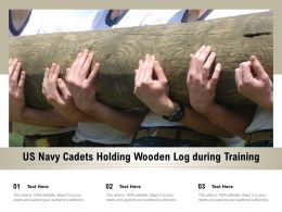 US Navy Cadets Holding Wooden Log During Training