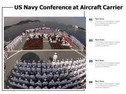 US Navy Conference At Aircraft Carrier
