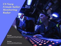 US Navy Female Sailor Monitoring Radar
