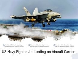 US Navy Fighter Jet Landing On Aircraft Carrier