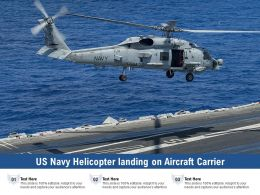 US Navy Helicopter Landing On Aircraft Carrier