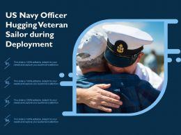 US Navy Officer Hugging Veteran Sailor During Deployment