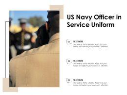 US Navy Officer In Service Uniform