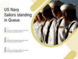 US Navy Sailors Standing In Queue