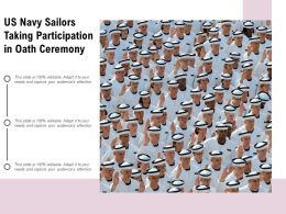 US Navy Sailors Taking Participation In Oath Ceremony