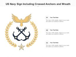 US Navy Sign Including Crossed Anchors And Wreath