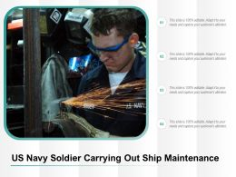 US Navy Soldier Carrying Out Ship Maintenance