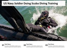 US Navy Soldier Doing Scuba Diving Training