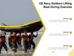 US Navy Soldiers Lifting Boat During Exercise
