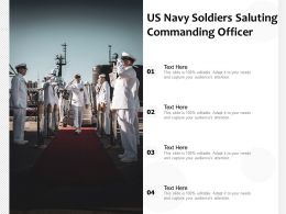 US Navy Soldiers Saluting Commanding Officer