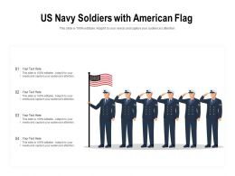 US Navy Soldiers With American Flag