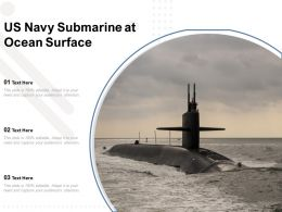 US Navy Submarine At Ocean Surface