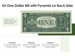 US One Dollar Bill With Pyramid On Back Side