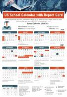 US School Calendar With Report Card Presentation Infographic PPT PDF Document