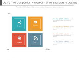 Us Vs The Competition Powerpoint Slide Background Designs