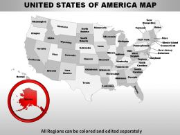 USA Alaska State Powerpoint Maps
