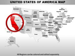 All new US Map PowerPoint templates & PPT designs