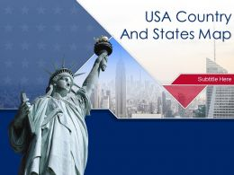 USA Country And States Map Powerpoint Template