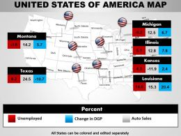 Usa Country Powerpoint Map 1314