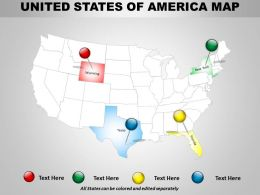 Usa Country Powerpoint Map Design 1314