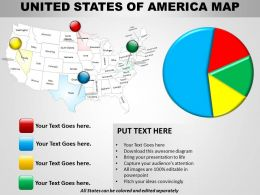 Usa Country Powerpoint Map Layout 1314