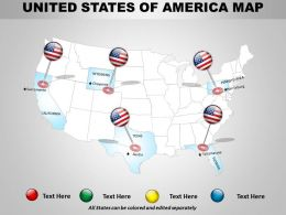 Usa Country Powerpoint Map Theme 1314