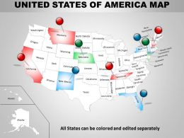 Usa Country Powerpoint Maps 1314