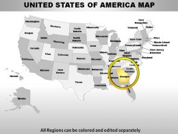 Powerpoint US States Maps Template US Presentation Slides PPT - Powerpoint us map