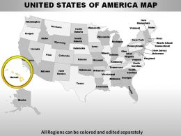 USA Hawaii State Powerpoint Maps