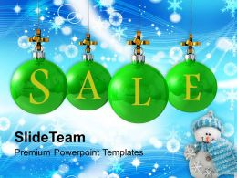 Usa Holidays Christmas Balls Sale Shopping Powerpoint Templates Ppt Backgrounds For Slides