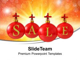 Usa Holidays Christmas Balls Sale Using Red Cross Symbol Powerpoint Templates Ppt Backgrounds