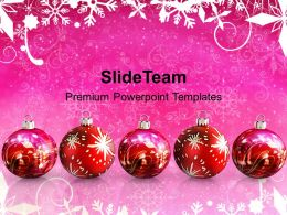 Usa Holidays Christmas Clipart Hanging Baubles Festival Powerpoint Templates Ppt Background For Slides