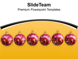 Usa Holidays Christmas Clipart Ornaments Decoration Festival Powerpoint Templates Ppt For Slides