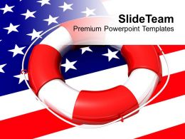 Usa Lifeguard On Flag Saving Life Future Powerpoint Templates Ppt Themes And Graphics 0113