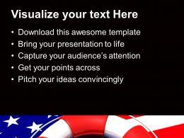 Usa Lifeguard On Flag Saving Life Future Powerpoint Templates Ppt Themes And Graphics 0113