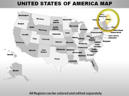USA Maine State Powerpoint Maps