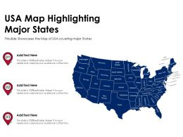 USA Map Highlighting Major States Powerpoint Presentation PPT Template