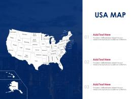 USA Map Powerpoint Presentation PPT Template