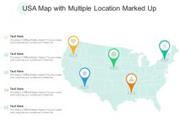 USA Map With Multiple Location Marked Up
