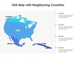 USA Map With Neighboring Countries