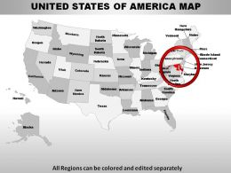 USA Maryland State Powerpoint Maps