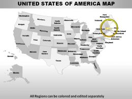 USA Massachusetts State Powerpoint Maps