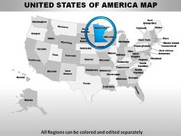 USA Minnesota State Powerpoint Maps