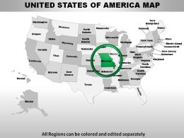 USA Missouri State Powerpoint Maps