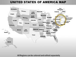 USA New Jersey State Powerpoint Maps