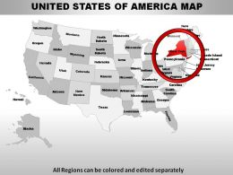 USA New York State Powerpoint Maps